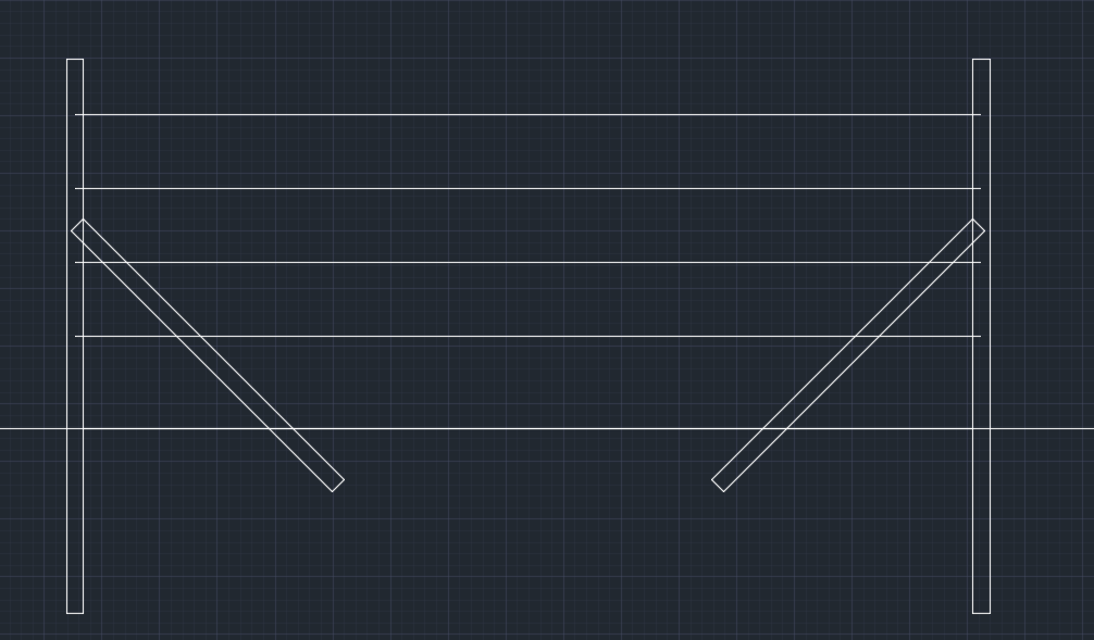 brombærstativ arbejdstegning brombær