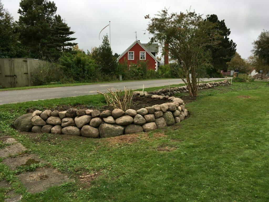 Stensætning bue have