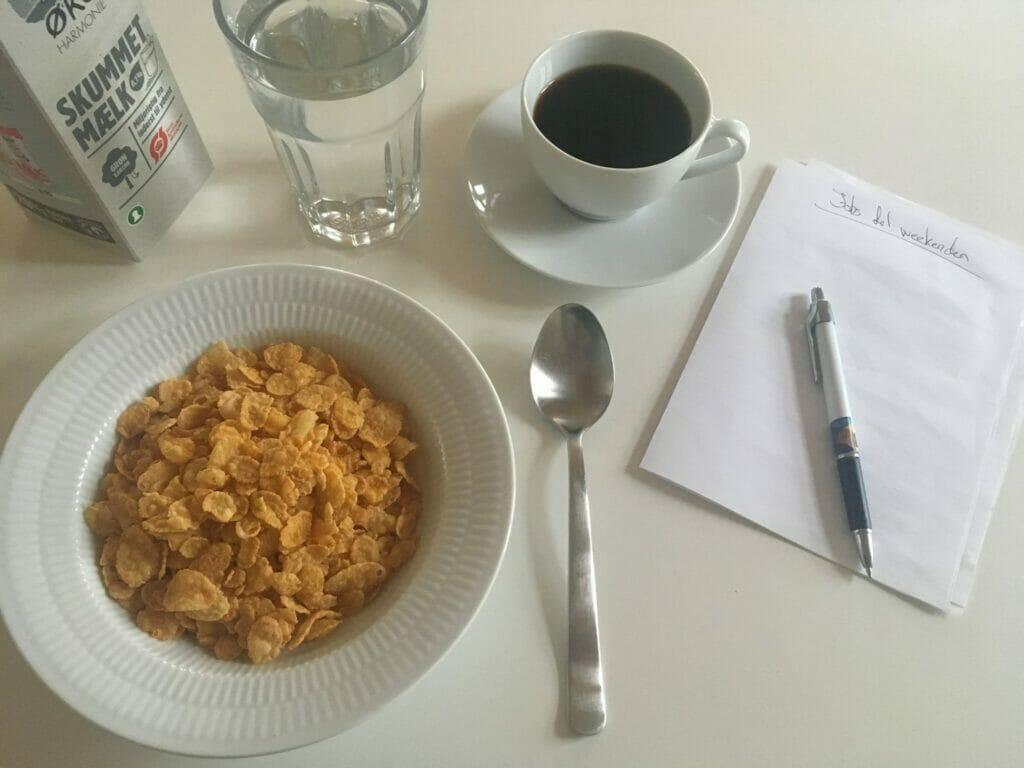 cornflakes kaffe planlægning