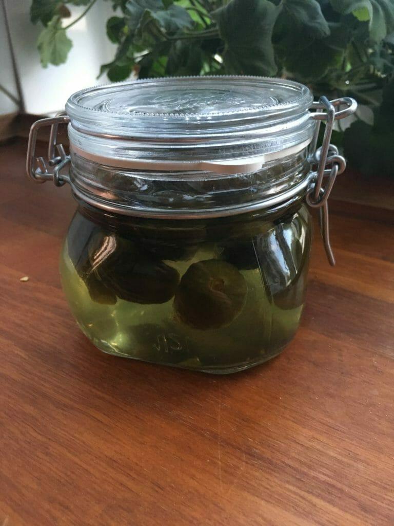syltede grønne figner patentglas