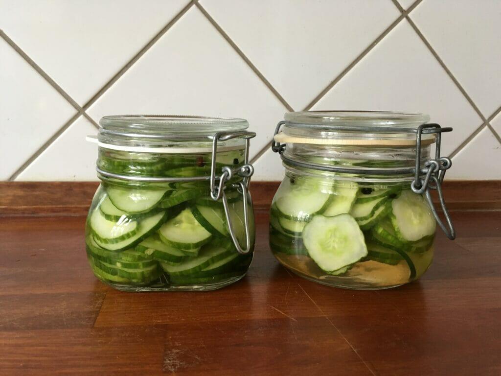 syltede agurker patentglas