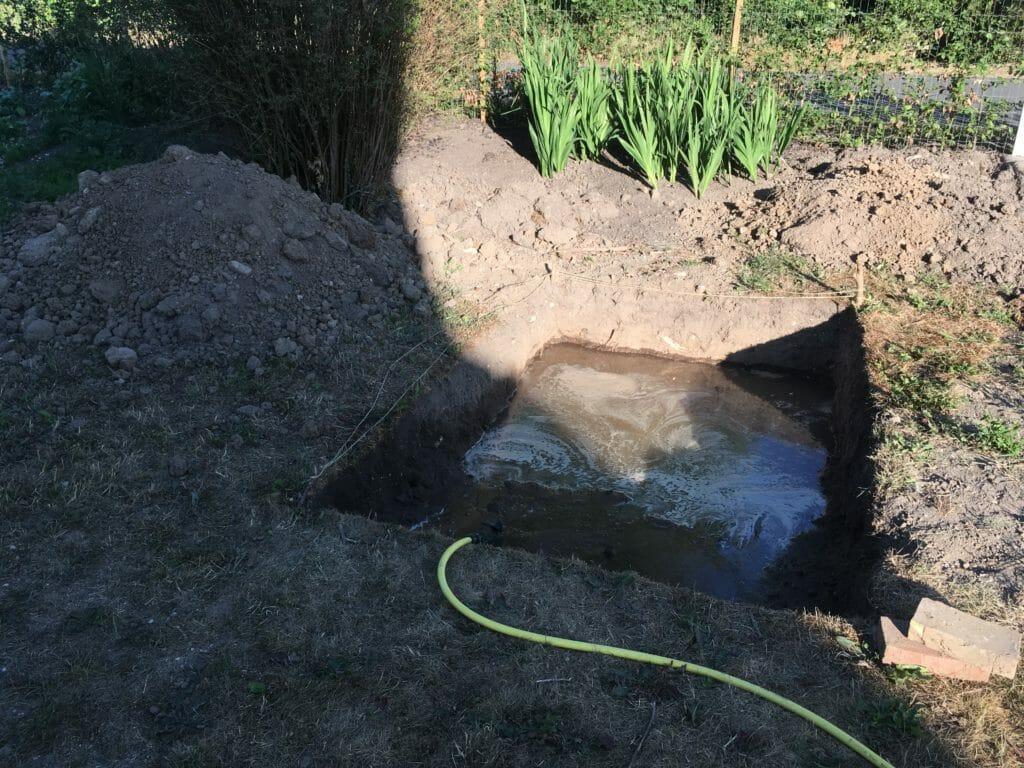 vandtank udgravning regnvand