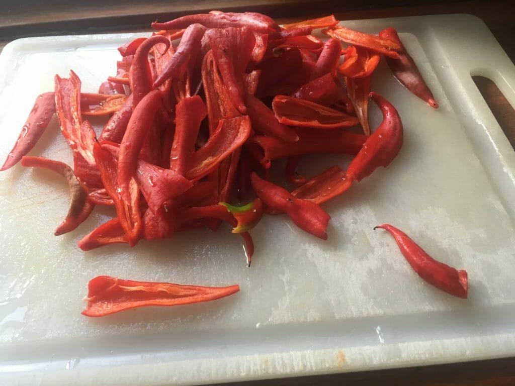 Chili høst frysning