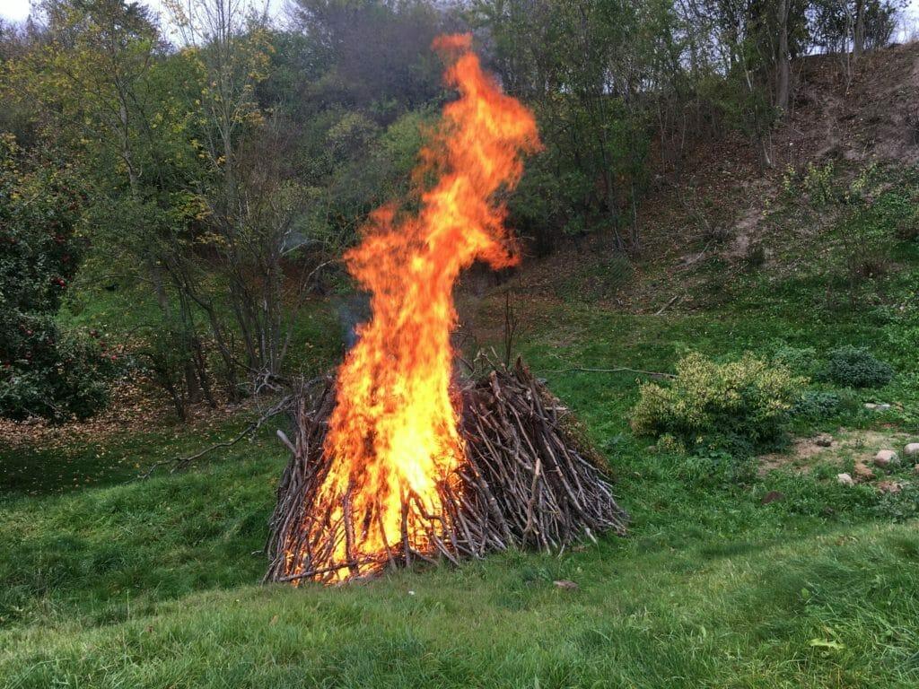afbrænding haveaffald bål have
