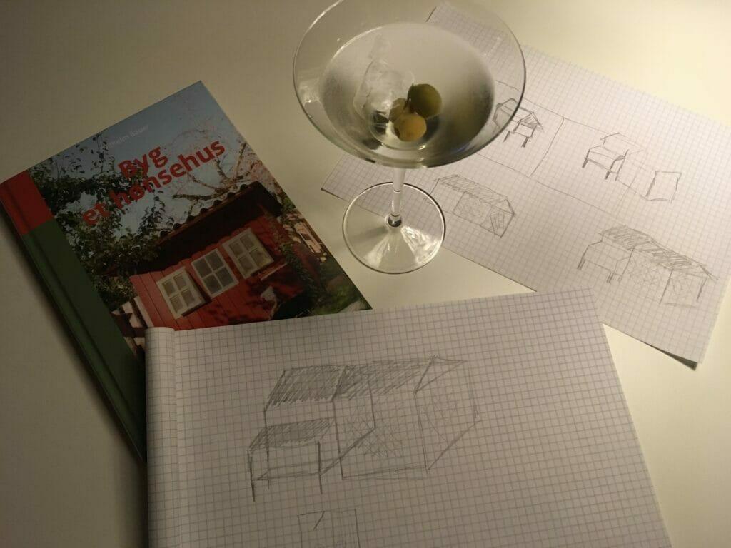 hønsehus design tegning gør det selv