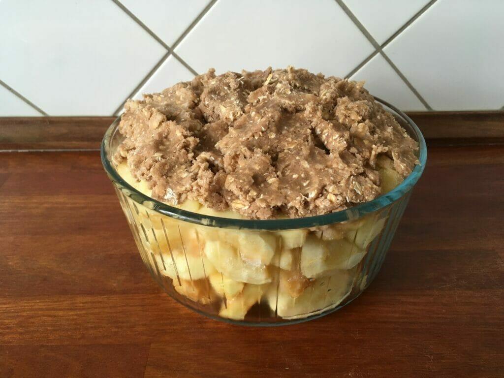æblecrumble æblekage bagt