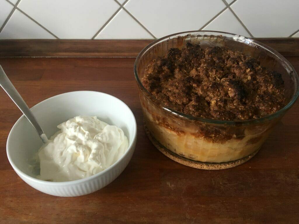 kage til kaffen æblekage