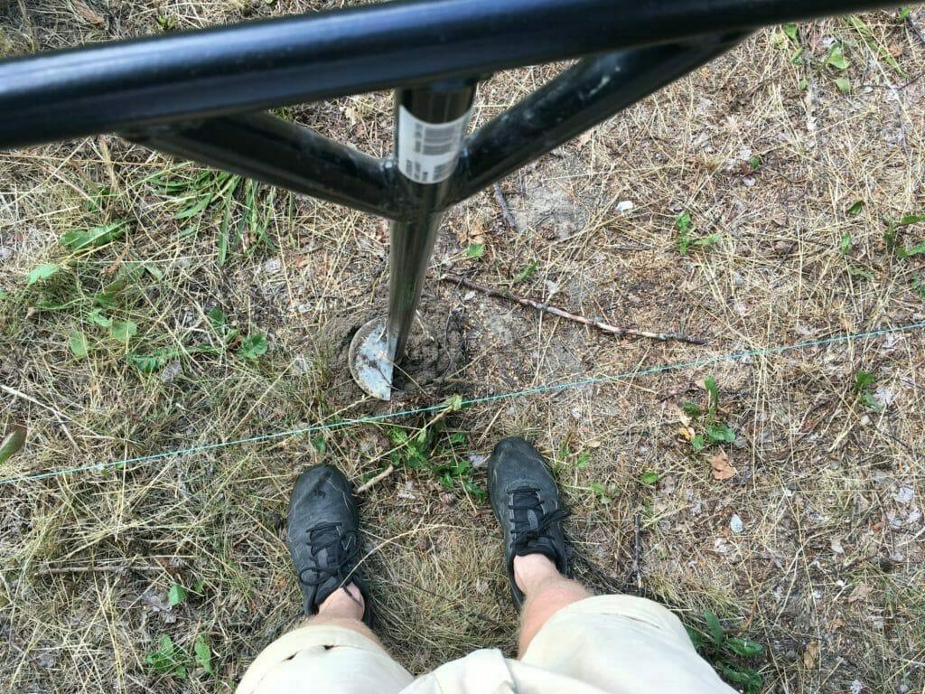 pælebord boring hegnstolper hegn gør det selv