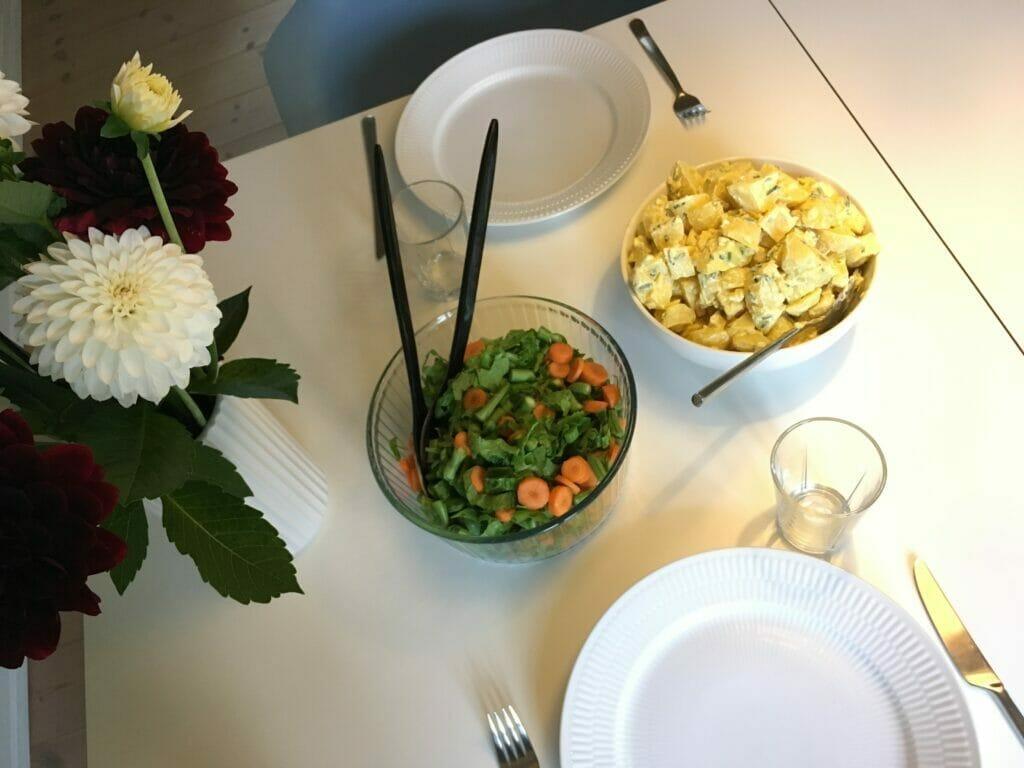 salat kartoffelsalat grøntsager sundt