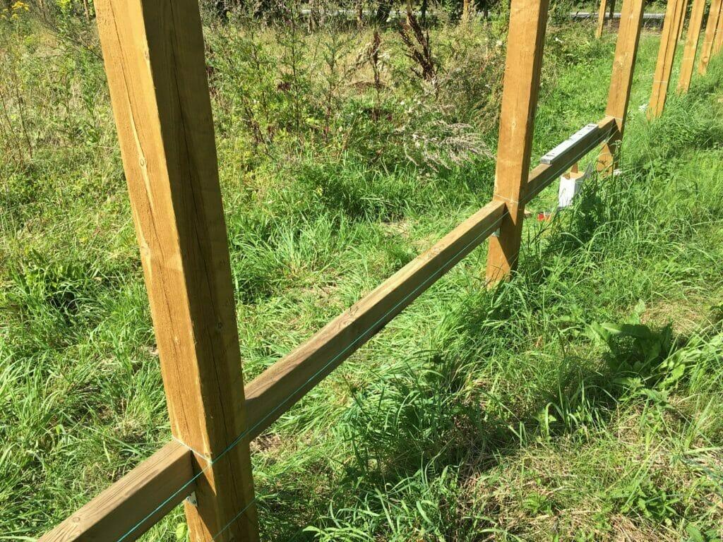 afstand mellem hegnsstolper