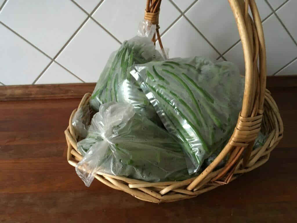 blanchering bønner buskbønner haricot verts