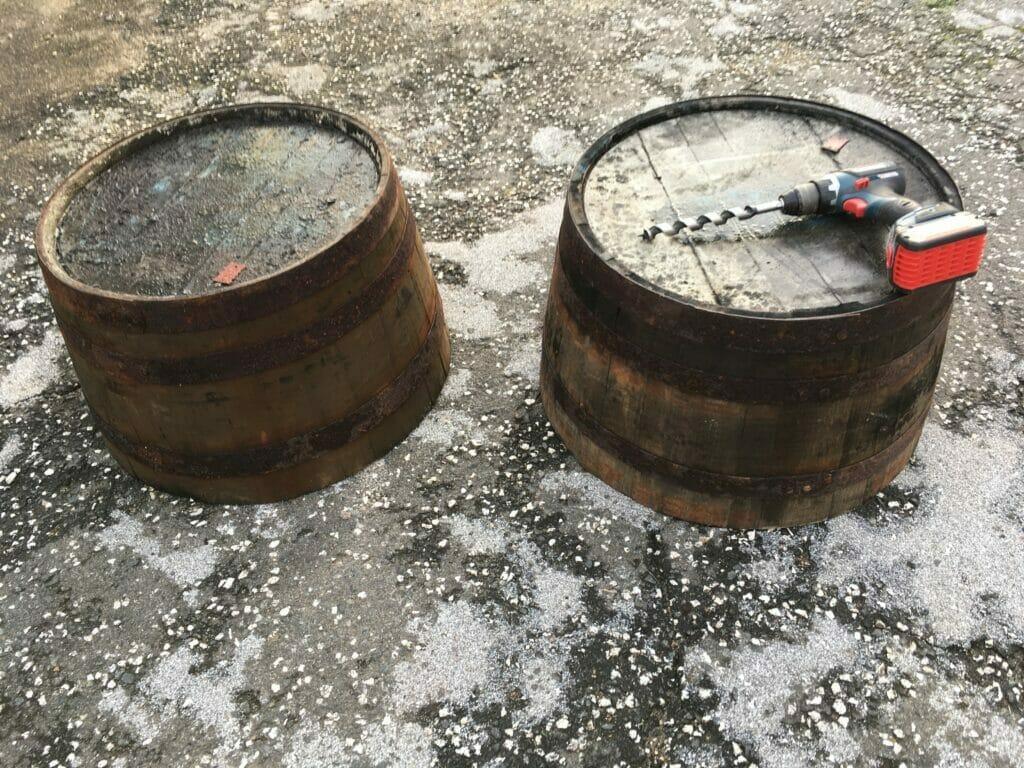 Whiskeytønder plantning