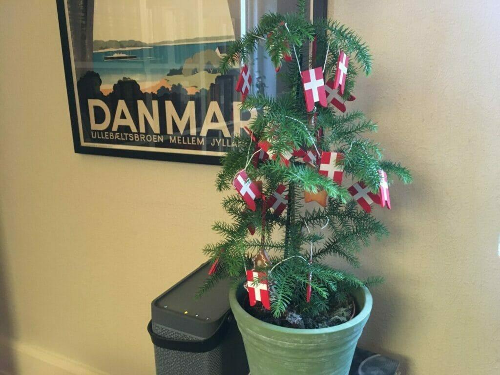 flag på juletræet