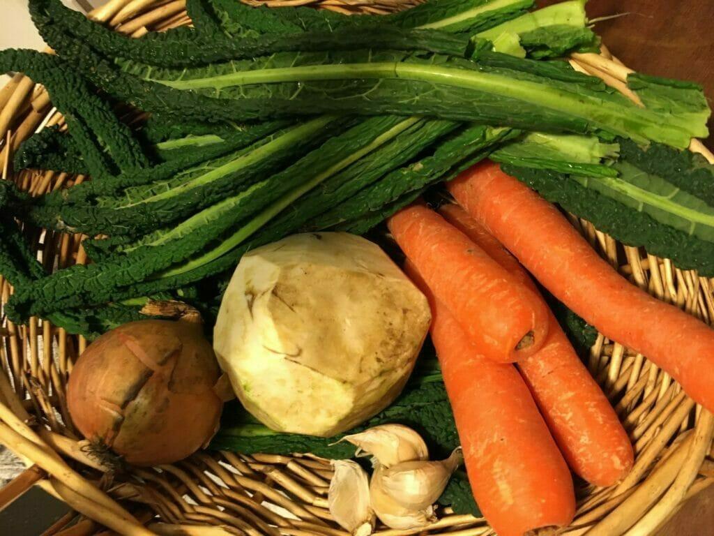 grøntsager hjemmedyrket