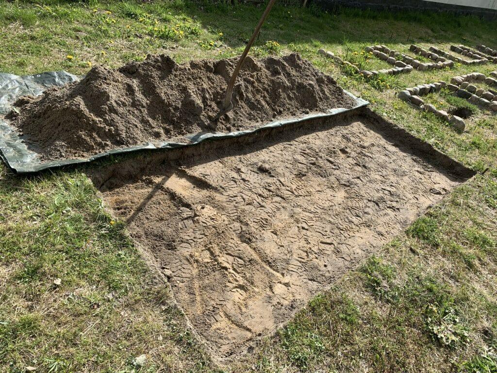 Anlægnings af aspargesbed