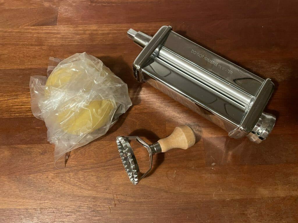 hjemmelavet pasta på røremaskine