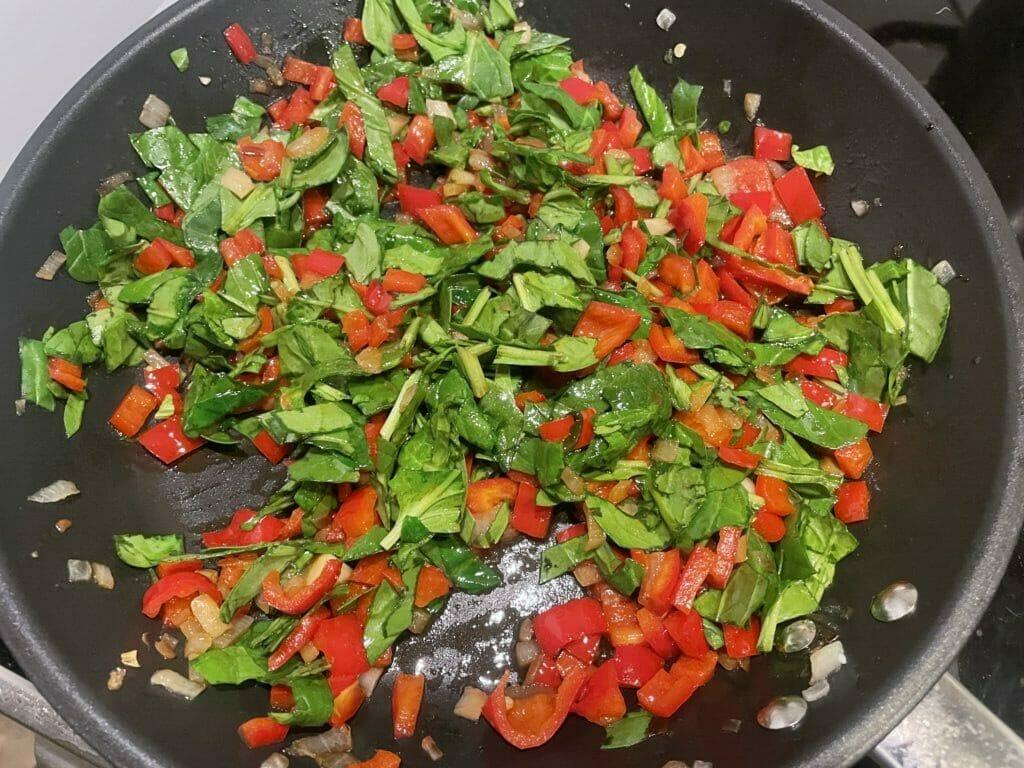 grøntsager på panden