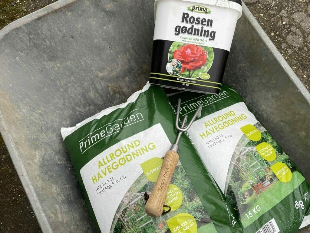 gødning til roser havegødning NPK