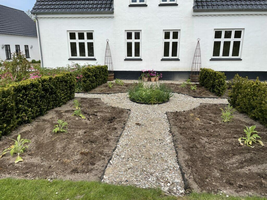 hvid have hvidt hus takshæk anlæg af bede bed