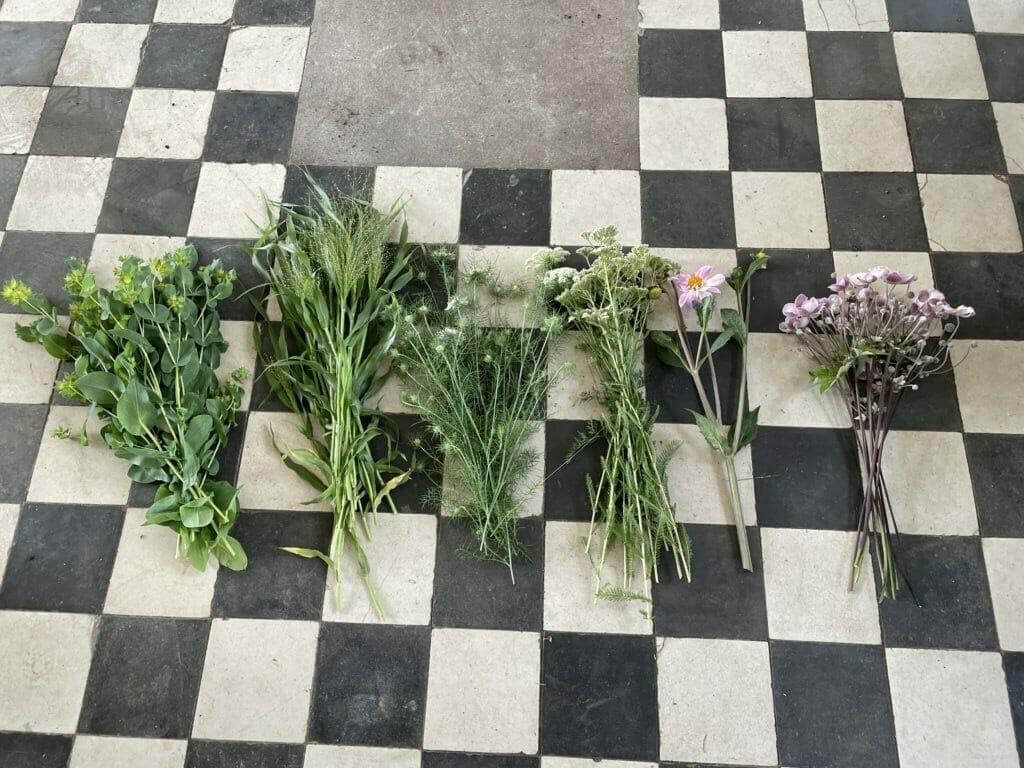 skærehave grønt til buketter
